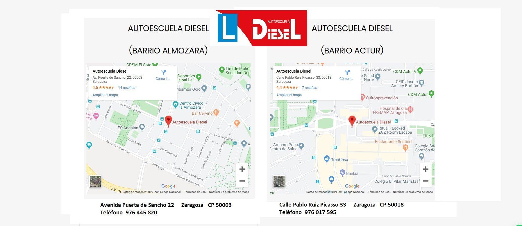 Autoescuelas colaboradoras en Zaragoza